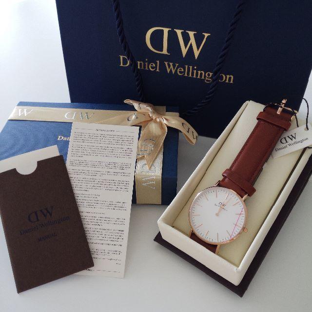 Daniel Wellington(ダニエルウェリントン)のDanielWellington40mm0106DWピンクゴールド×ブラウン レディースのファッション小物(腕時計)の商品写真