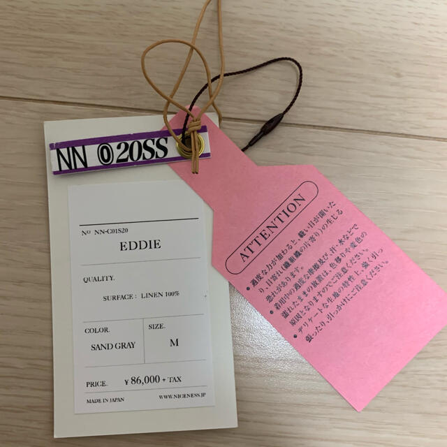 COMOLI(コモリ)の完売 入手困難 NICENESS  EDDIE メンズのジャケット/アウター(ブルゾン)の商品写真