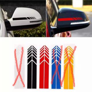 新品  ドアミラー ステッカー 黒色/赤色選択可能