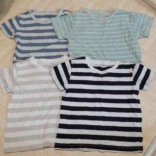 ムジルシリョウヒン(MUJI (無印良品))の無印良品 ベビー服 ボーダー半袖Tシャツ 90 4枚セット(Tシャツ/カットソー)