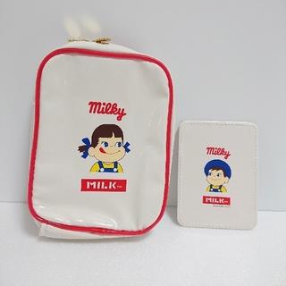 ミルクフェド(MILKFED.)のペコちゃんじゃばらポーチ&ポコちゃんミラー(ポーチ)