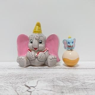 ディズニー(Disney)のディズニー  ダンボの置物  陶器  ダンボの起き上がりこぼし(置物)