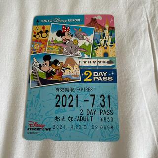 ディズニー(Disney)のディズニー リゾートライン 2days pass(遊園地/テーマパーク)