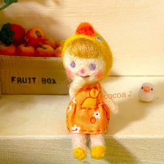 羊毛フェルト♪女の子(人形)