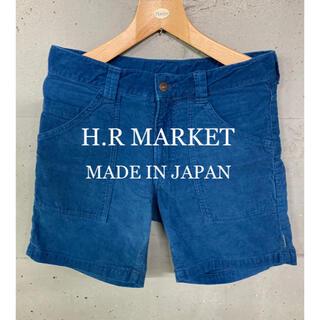 ハリウッドランチマーケット(HOLLYWOOD RANCH MARKET)のH.R MARKET コーデュロイショートパンツ!日本製!(ショートパンツ)