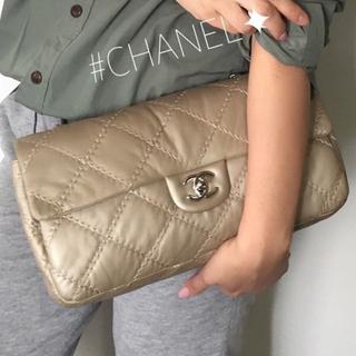 CHANEL - CHANEL チェーンバッグ シャンパンゴールド×シルバー