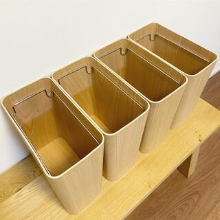 ムジルシリョウヒン(MUJI (無印良品))の無印良品 木製ごみ箱 4個セット(ごみ箱)