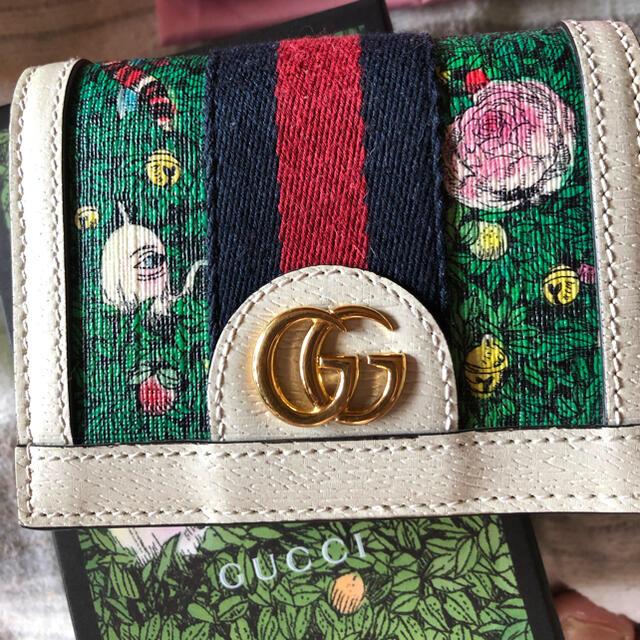 Gucci(グッチ)のGUCCI × ヒグチユウコ 二つ折り財布 マルチカラー日本限定 レディースのファッション小物(財布)の商品写真