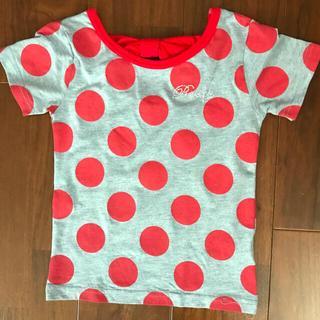 ロキシー(Roxy)の美品!後ろ姿リボンの水玉Tシャツ 120 ROXY(Tシャツ/カットソー)