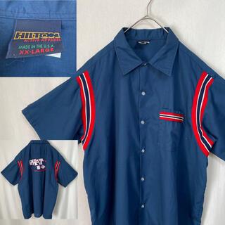 80's   HILTON ボウリングシャツ 半袖 アメリカ製(シャツ)
