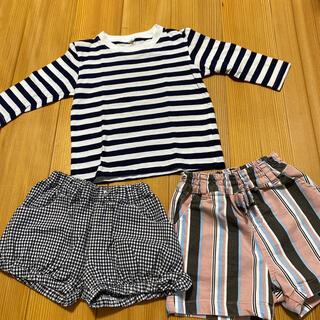 ムジルシリョウヒン(MUJI (無印良品))の90センチ カットソー、パンツ おまとめ売り(パンツ/スパッツ)