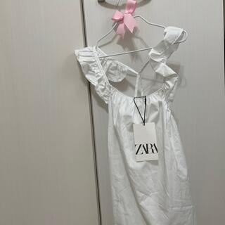 ザラ(ZARA)のZARA🌟フリル キャミ 新品140(Tシャツ/カットソー)