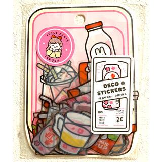 海外フレークシール❤︎ジュース❤︎〈ピンク〉(シール)