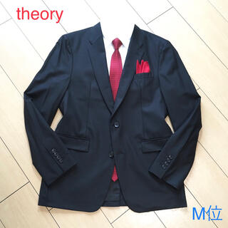 セオリー(theory)の美品★セオリー×上質ブラック テーラードジャケット ストレッチ性◎黒  A936(テーラードジャケット)
