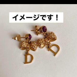 Dior - ディオール ピアス ゴールド リボン Dior