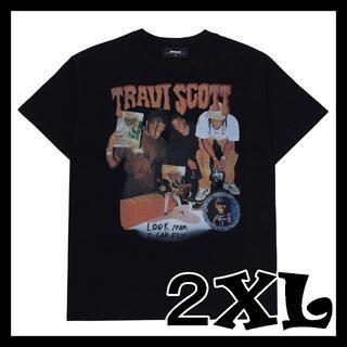 travis scott メンズ Tシャツ 2XL ブラック トラヴィススコット