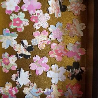 和柄フレークシール(桜)クラフトパンチ(シール)