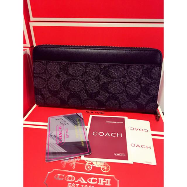 8844472493e COACH - coachコーチ黒長財布品番74597の通販 by zozo's shop コーチ ...
