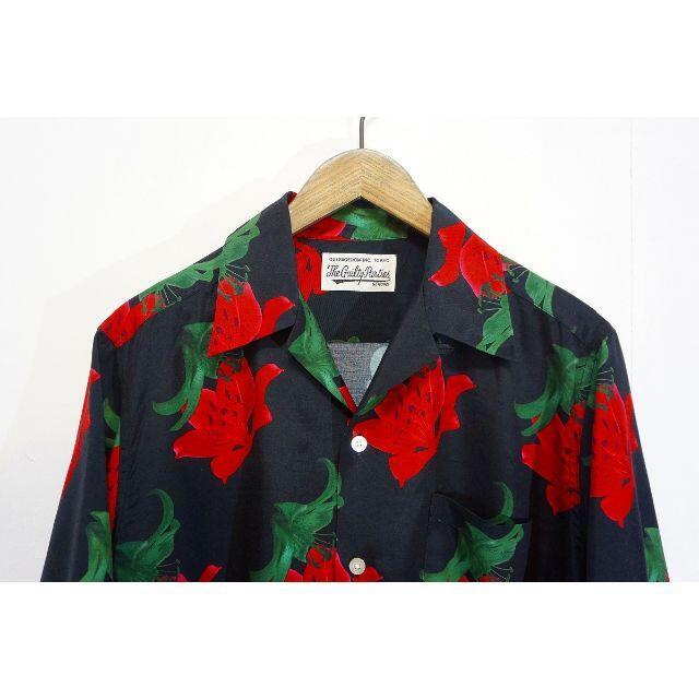 WACKO MARIA(ワコマリア)の美品 20SS ワコマリア ハワイアン シャツ アロハ 百合 花柄 403L▲ メンズのトップス(シャツ)の商品写真