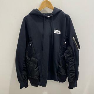 sacai - Nike×sacai Hoodie 黒 ナイキサカイ パーカー XS