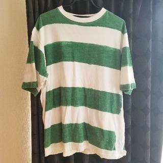 STUSSY - stussy グリーン ボーダーTシャツ