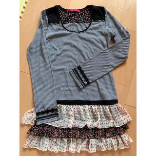 ドーリーガールバイアナスイ(DOLLY GIRL BY ANNA SUI)のドーリーガール 長袖切り替えワンピース(ひざ丈ワンピース)