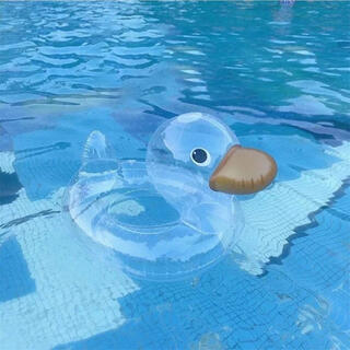 kids duck float アヒル 透明 浮き輪