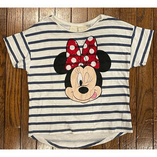 ザラキッズ(ZARA KIDS)のZARA ディズニースパンコールTシャツ ミニー 110(Tシャツ/カットソー)