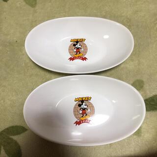 ディズニー(Disney)のミッキー オーバルプレート 陶磁器 ENEOS   カレー皿 レア(キャラクターグッズ)