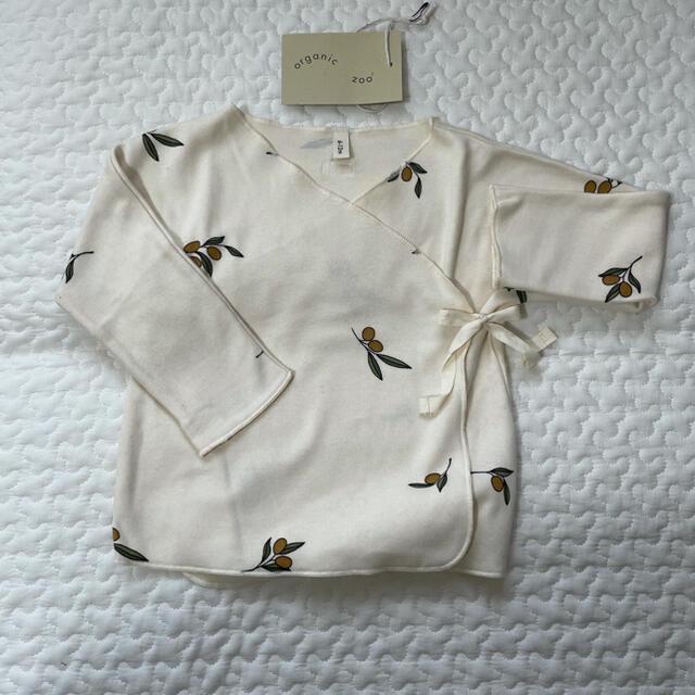 こども ビームス(コドモビームス)のorganiczoo オーガニックズー oliveオリーブ柄 6m-12m 新品 キッズ/ベビー/マタニティのベビー服(~85cm)(Tシャツ)の商品写真