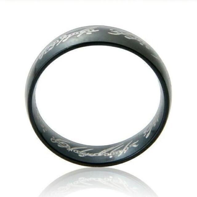 ロードオブザリング 刻印リング☆ブラック 単品 メンズのアクセサリー(リング(指輪))の商品写真