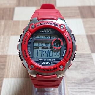 CASIO - 超美品【CASIO/WAVECEPTOR】デジタル 電波クォーツ メンズ腕時計