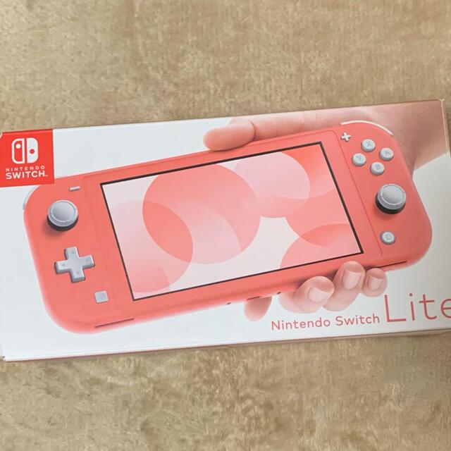 Nintendo Switch(ニンテンドースイッチ)のNintendo SwitchNINTENDO SWITCH LITE コーラル エンタメ/ホビーのゲームソフト/ゲーム機本体(家庭用ゲーム機本体)の商品写真
