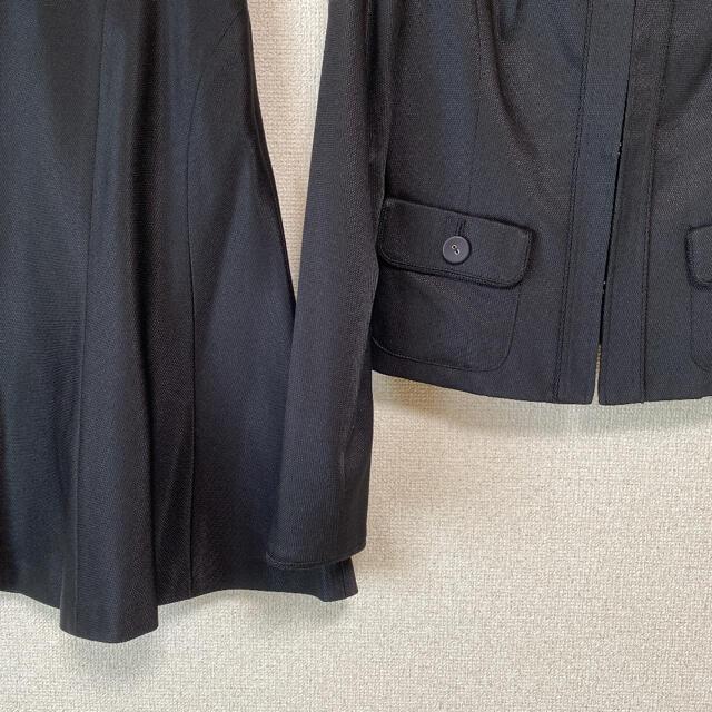 MICHEL KLEIN(ミッシェルクラン)のミッシェルクラン ノーカラー スカートスーツ 38 W68 DMW レディースのフォーマル/ドレス(スーツ)の商品写真