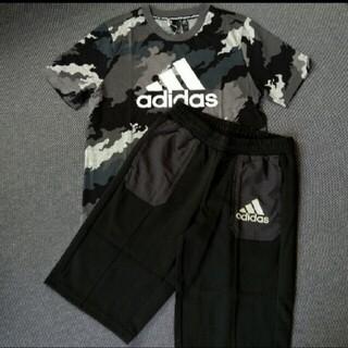 アディダス(adidas)の新品値下げ!アディダス adidas Tシャツとハーフパンツ上下セット 160(Tシャツ/カットソー)