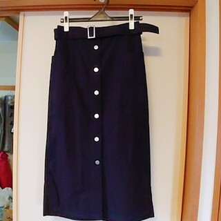 ジーユー(GU)のGU  スカート(ネイビー・Lサイズ)(その他)