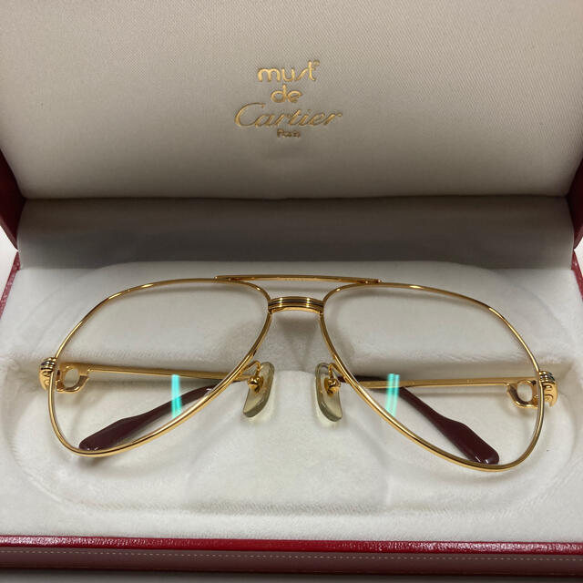 Cartier(カルティエ)のカルティエ   メガネ サングラス 美品 フルセット スリーカラーリング メンズのファッション小物(サングラス/メガネ)の商品写真