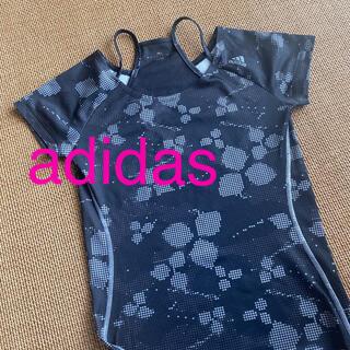 アディダス(adidas)のadidas スポーツTシャツ黒(Tシャツ(半袖/袖なし))