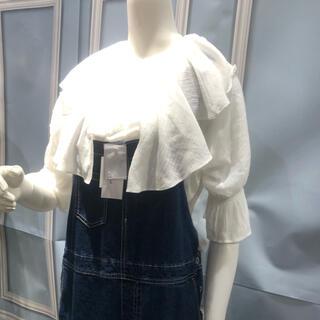 シマムラ(しまむら)のブラウス 白 Lサイズ(シャツ/ブラウス(半袖/袖なし))