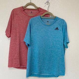アディダス(adidas)のadidas Tシャツ スポーツウェア レディース2枚セット価格 Mサイズ(ウェア)