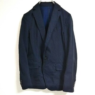 ドゥーズィエムクラス(DEUXIEME CLASSE)のDEUXIEME CLASSE   コットン ジャケット   紺色   サイズS(テーラードジャケット)