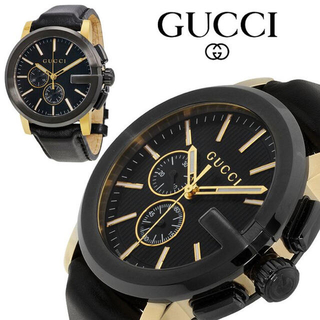 Gucci - GUCCI G-Chrono ブラック メンズ 腕時計 YA101203