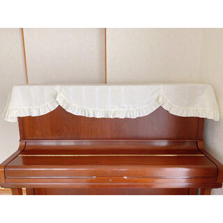 ピアノカバー(トップカバー)音符柄 アイボリー(ピアノ)