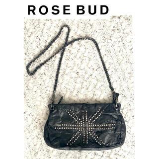 ローズバッド(ROSE BUD)のROSEBUD ショルダーバッグ レザー ブラック チェーン(ショルダーバッグ)
