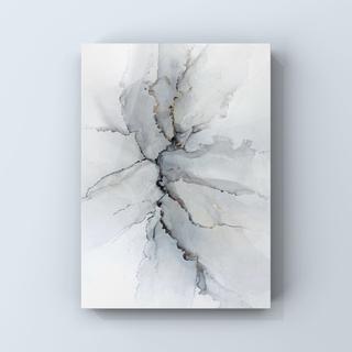 アルコールインクアート インテリアアート アートポスター《stone gray》(アート/写真)