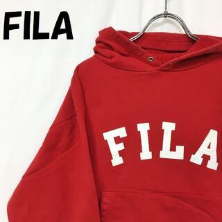 フィラ(FILA)の【人気】フィラ ビッグロゴ プルパーカー フェラーリ Shell 袖ワッペン L(パーカー)