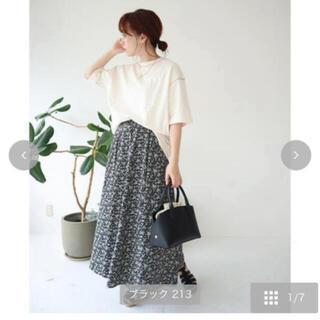 シマムラ(しまむら)のしまむら てら 花柄スカート  L(ロングスカート)