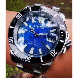 セイコー(SEIKO)のセイコー サブマリーナ デイト ビンテージ SRPE33K カスタム nh35(腕時計(アナログ))
