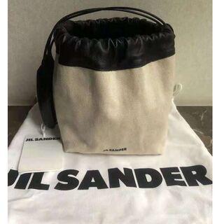 Jil Sander - ジルサンダーキャンバス巾着斜めバケットバッグ