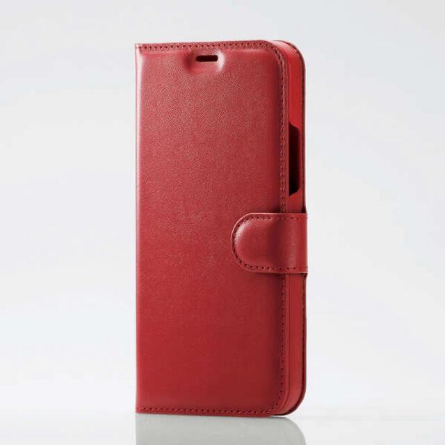 ELECOM(エレコム)のiPhone12 iPhone 12 Pro 手帳型 レザーケース レッド スマホ/家電/カメラのスマホアクセサリー(iPhoneケース)の商品写真